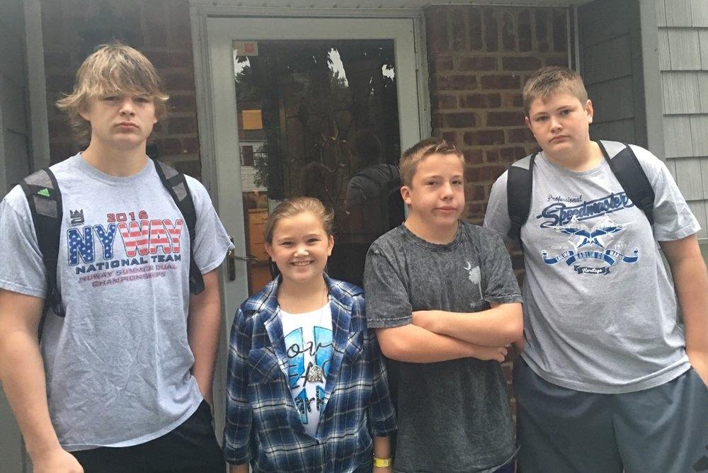 Zach-17, Travis-13, Alicia-10, & Pat-15, Ancewicz, Elwood SD.  Submitted by proud grandmother, Alicia Lawrence