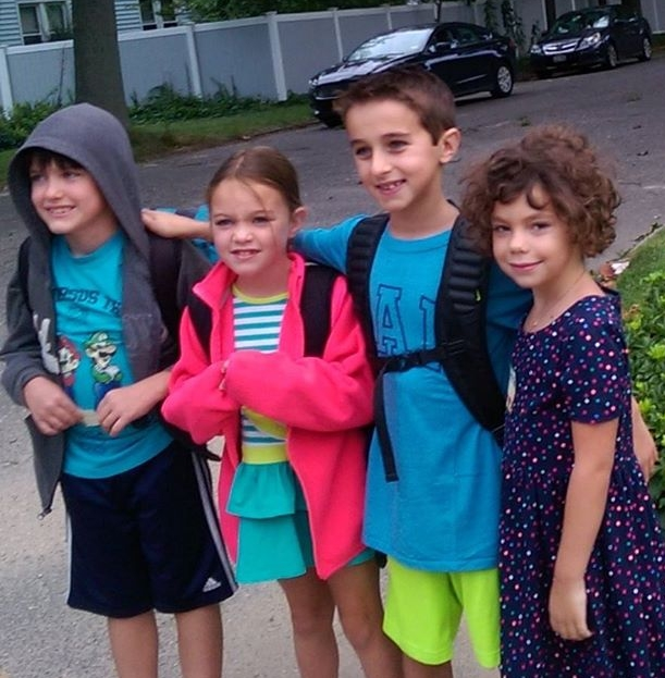 From left to right: Declan Holt, 9, 4th grade,Fiona Holt, 7, 3rd grade, Richie Sanborn, 9, 4th grade, Kathren Grace Mellon, 6, 1st grade, Pulaski Road School. Proudly submitted by Pat Mellon