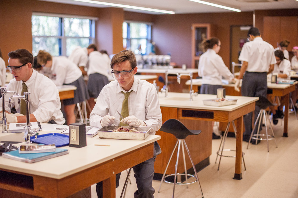 Long Islander News photos/Jano Tantongco St. Anthony's High School has recently renovated all of its laboratories, from biology to physics, in a multimillion-dollar project.