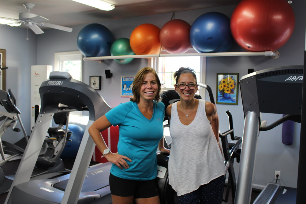 Long Islander News photos/Janee Law Lynn Perzeszty and Helen Pufahl, personal trainers at Unique Health and Fitness, focus on helping their clients become active and healthier.