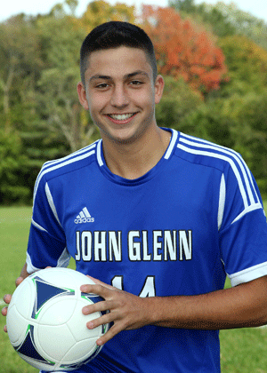 Photo/Seanurda14.org  The late Sean Urda wore number 14 when playing for Elwood-John Glenn's boys soccer team prior to his death. On Oct. 14, the newly-donated scoreboard at the high school's soccer field will be dedicated in his honor.