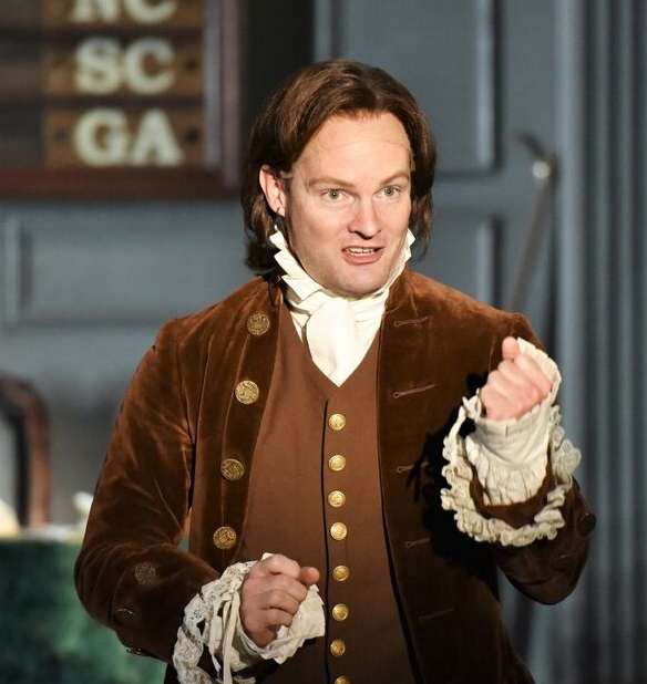 Photos by Michael DeCristofaro Jamie LaVerdiere (as John Adams) gives an intense and passionate performance as the founding father that championed independence in congress.