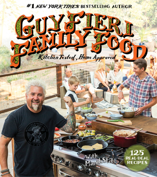 "Guy Fieri, star of Food Network's ""Diners, Drive-Ins and Dives,"" is set to sign copies of his new cookbook, ""Guy Fieri Family Food,"" in Huntington village on Wednesday."