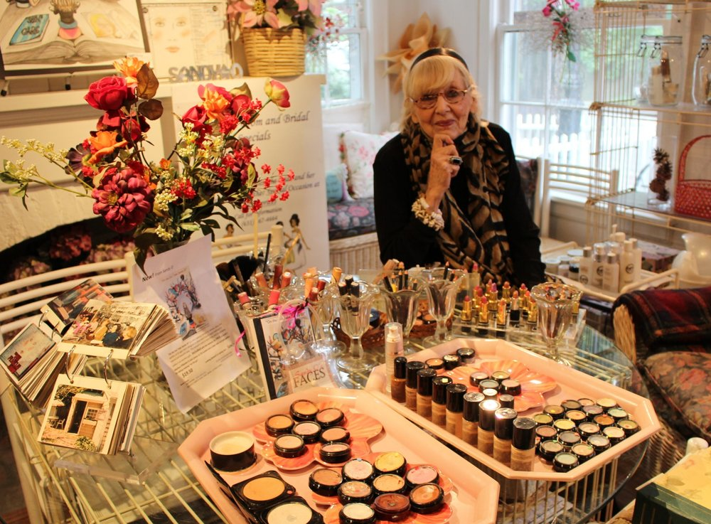 Long Islander News photos/Janee Law Sandy Oringer, owner of Cold Spring Harbor-based Sandy O's Faces, has been a trendsetter in the industry of cosmetics by using natural ingredients in makeup products, and offering personalized services.