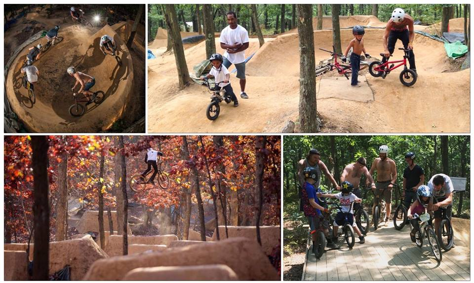 """Photo/Facebook.com The so-called """"Boondocks Trails"""" in the Pine Ridge Conservation Area in Melville have been ridden on for the past 11 years, despite its lack of approval from the Town of Huntington."""
