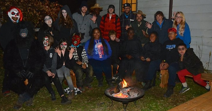 "Photo courtesy of Richard Brundige  Join the happily scared guests of the Manor Farm Haunted Trail experience for a down-to-earth, ""people generated"" time."