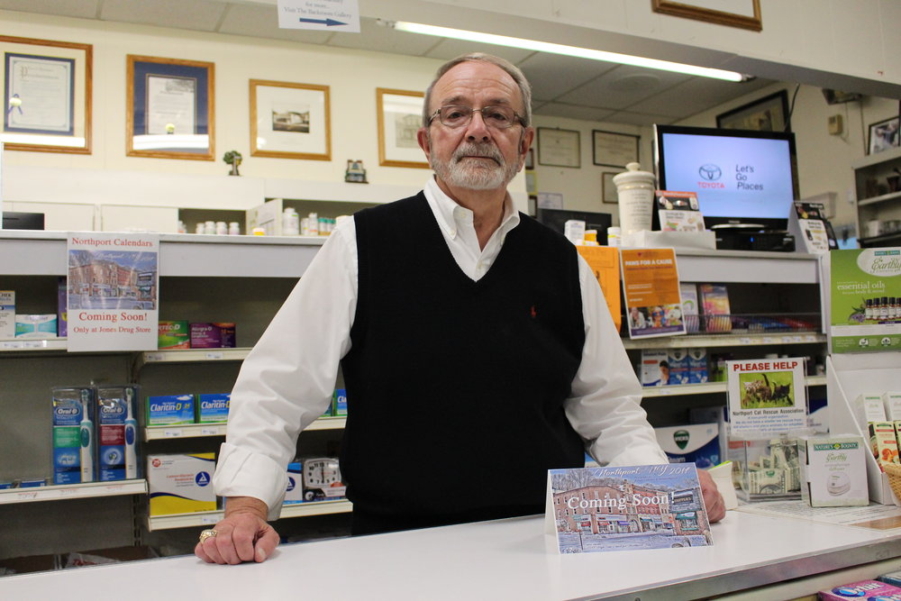 Long Islander News photos/Janee Law Owner and pharmacist Vincent Terranova of Jones Drug Store/JDS Village Gifts is preparing his store with medicine for the upcoming winter season.