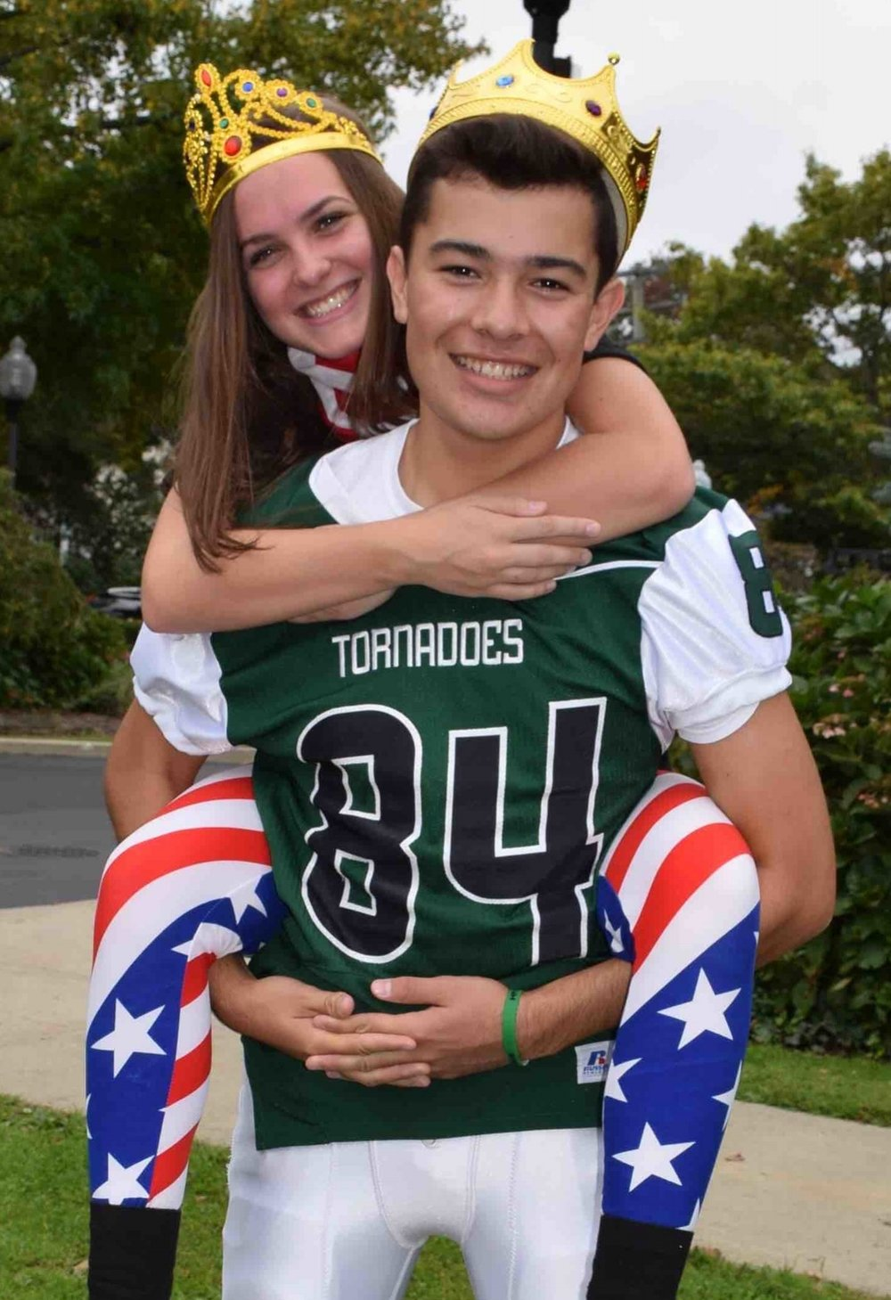 Photos courtesy of the Harborfields School District omecoming queen Jessica Martino pictured with homecoming king Koby Cordova during Harborfields' homecoming festivities.