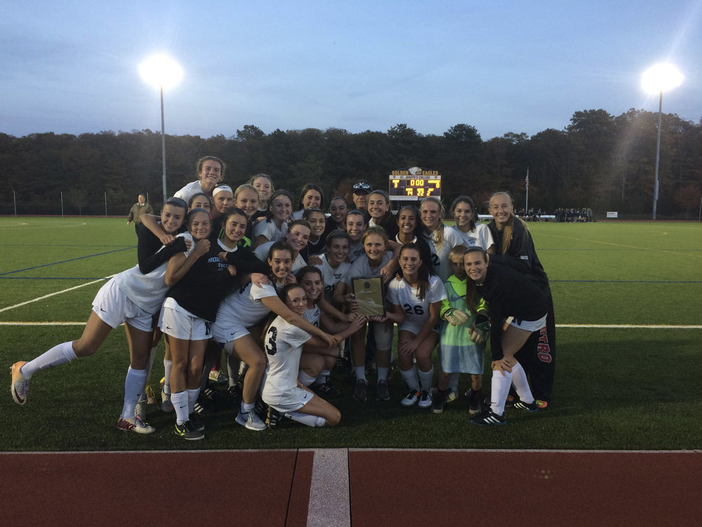 The Northport girls soccer team is the Suffolk AA champion after defeating Smithtown West, 3-0, on Tuesday.