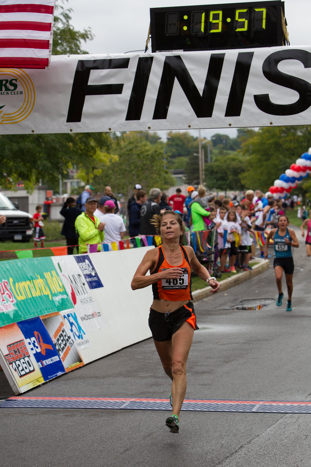 Kathryn Martin, of Asharoken, recently set the world record for ages 65-69 in the women's 5K race at the 24 th  Annual Syracuse Festival of Races. (Photo by Bob Brock).