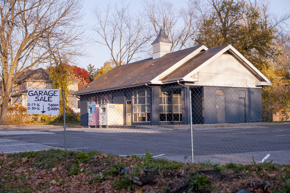 Pictured is the former site of the historic Platt's Tavern. It is currently occupied by a building that used to be a gas station.