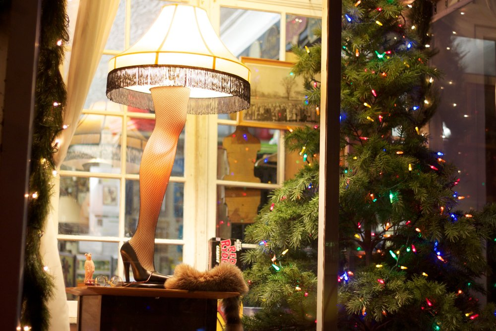 The annual leg lamp-lighting ceremony in Northport has a new home this year in Carl's Candies.