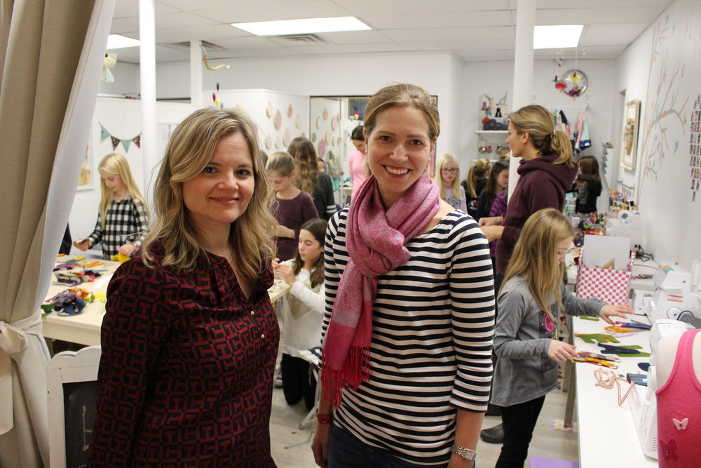 Kelly Donovan and Jennifer Tullo, co-owners of Craftree, teamed up three years ago after discovering that they shared the same passion in crafting.