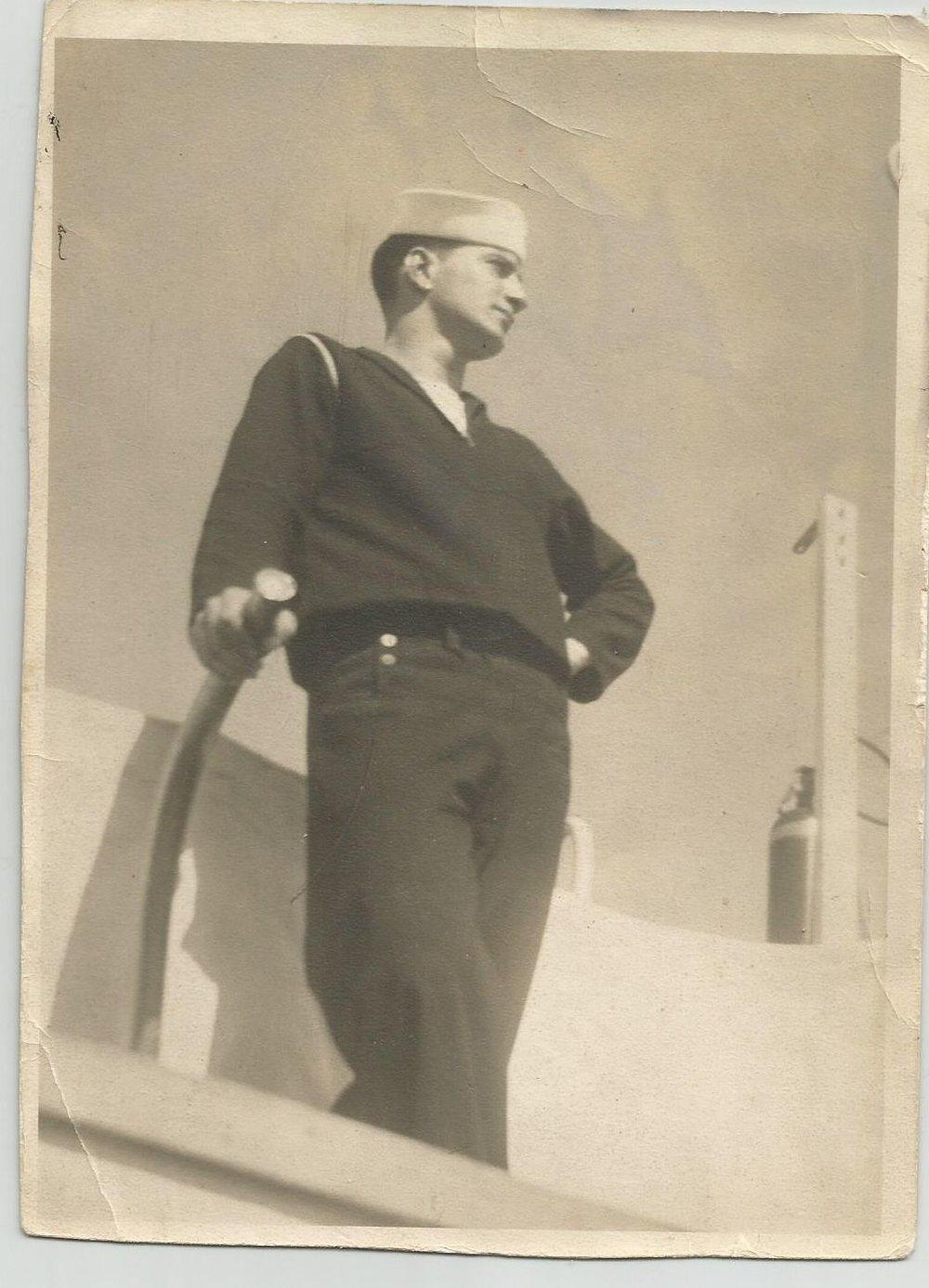 "Constantine ""Gus"" Socrates Savalas, a Pearl Harbor survivor, is pictured in uniform."
