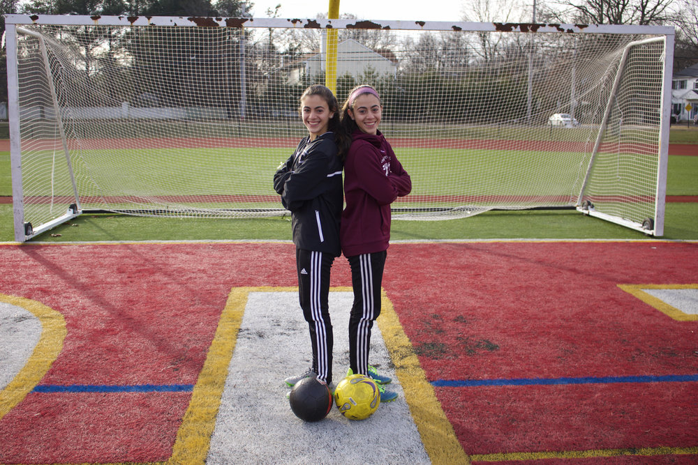Dix Hills twins Arianna and Olivia Sabatino have been playing soccer together since they were 3 years old and continue to share a unique connection on the field at the collegiate level.