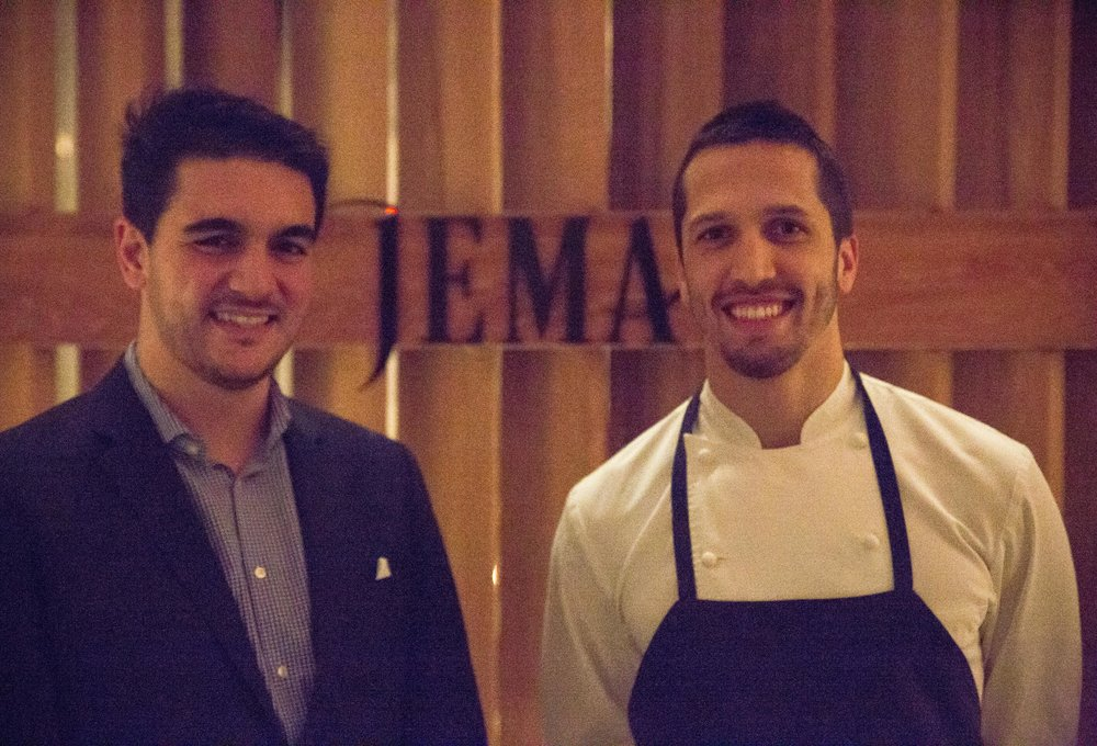 General manager Bernardo Carolo and Chef Franco Sampogna work in tandem to make Jema shine in its attentive service and exquisite cuisine.