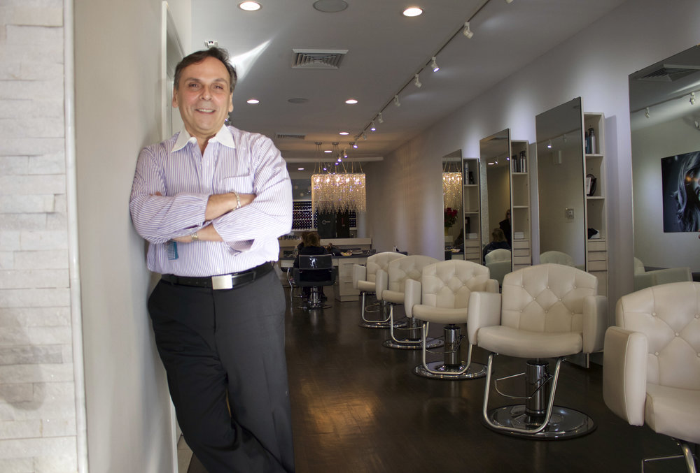 Anthony D'Angelo, owner of Escape Hair Lounge, has been in the hair industry for more than 30 years and caters to the comfort of his clients.