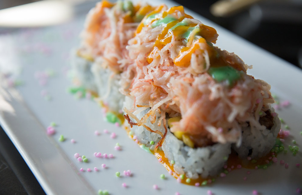 Nisen 2016 Volcano Roll, above, with its medley of flavors, was a hit with our Foodies.