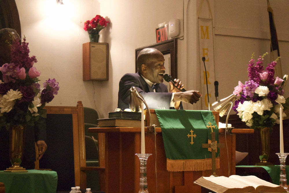 Rev. Larry Jennings, pastor of the Bethel A.M.E. Church and NAACP Huntington branch president, urges community members to not give up in their fight against social injustice.