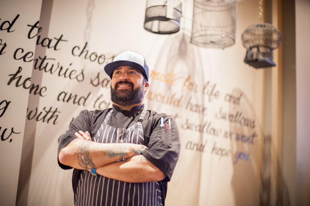 James Tchinnis, Swallow's chef and owner, brings the atmosphere of a cozy gathering at home with small plates and drinks to his restaurant.