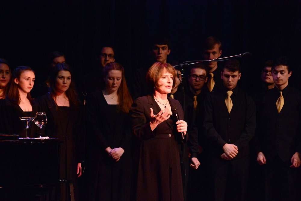 "Patti LuPone returned to her hometown early this week to perform ""Don't Monkey with Broadway,"" which featured the Northport High School Choir."