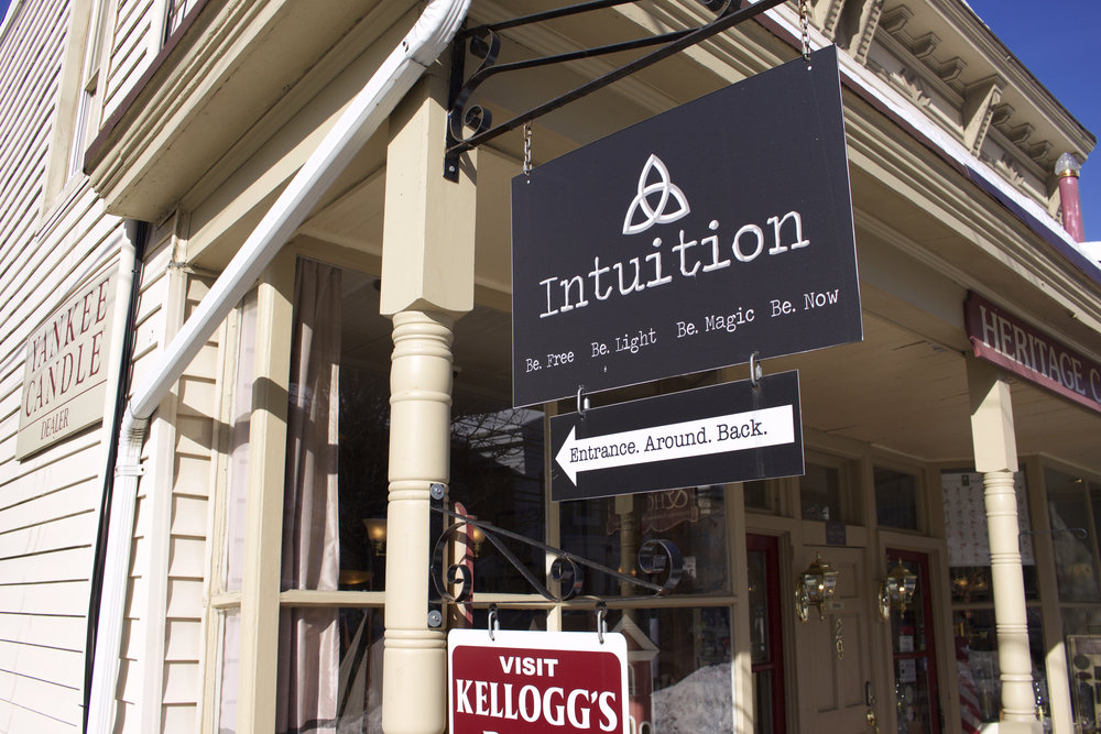 Open since June 2015, Intuition offers meditation and spiritual classes, along with jewelry, gifts, crystals, and essential oils.