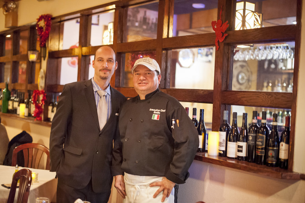 Frank Morello, left, general manager of Milito's, and owner and head chef Emilio Valle have teamed up to bring together more than 30 years of experience in the fine art of Italian cuisine.