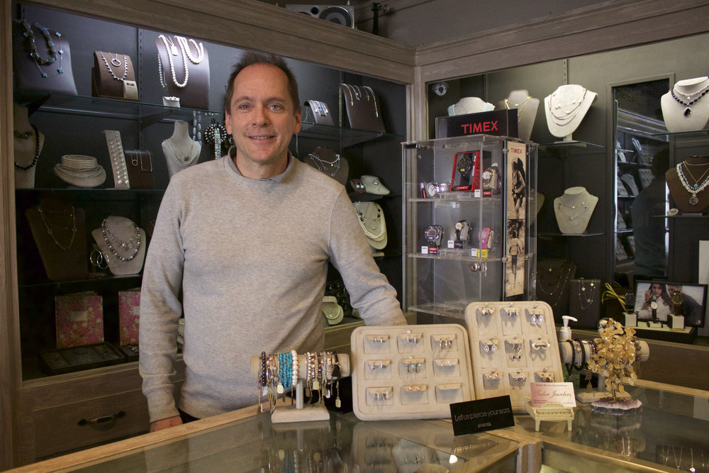 Ray McGuinness, owner of Tudor Jewelers in Northport Village, became a jeweler after falling in love with the craft growing up watching his father as a watchmaker.