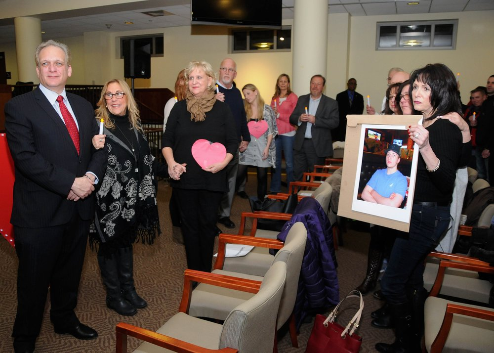 """The """"Hands & Hearts Against Heroin Addiction"""" program hosted in Mineola last week drew hundreds of residents."""