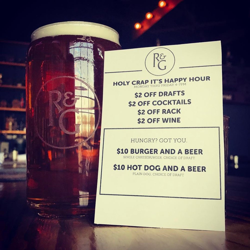 Rust & Gold, the rustic sports bar at 70 Gerard St. in Huntington village, offers this happy hour menu Monday-Friday, 4-7 p.m.