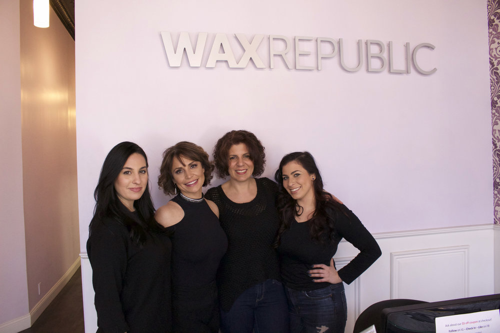 Long Islander News photo/Janee Law   Natia Schiffer, Lisa Lazzara, Dena Grella and Lola Dickson, of Wax Republic in Huntington village, pride themselves on offering a service that's friendly and approachable to their clients.