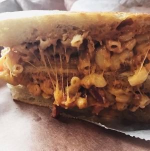 Photo/Instagram/thebrunchreview New York Panini in Huntington village recently introduced two specialty mac 'n' cheese panini.