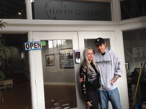 Husband and wife team Erica Berkowitz and Joseph Weinreb are the co-owners of Haven Gallery, located in the historic Carriage House on Main Street in Northport.
