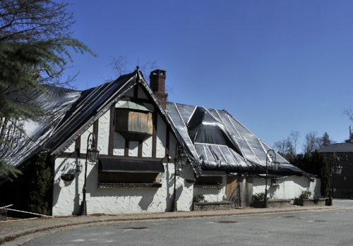 "Long Islander News photo/David Weber What used to be Centerport's Thatched Cottage catering hall, pictured above, has been bought by a Hauppauge-based firm, which plans to turn it into an ""impressive and stately"" catering facility."