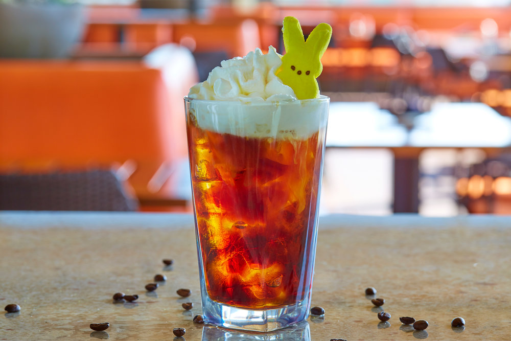 Photo courtesy of Del Fresco's Grille  On Easter Sunday, Del Fresco's Grille will offer a new Peepin' Cold Brew cocktail made with vanilla vodka, cold brew coffee and Monin salted caramel with a classic Easter Peep garnish.