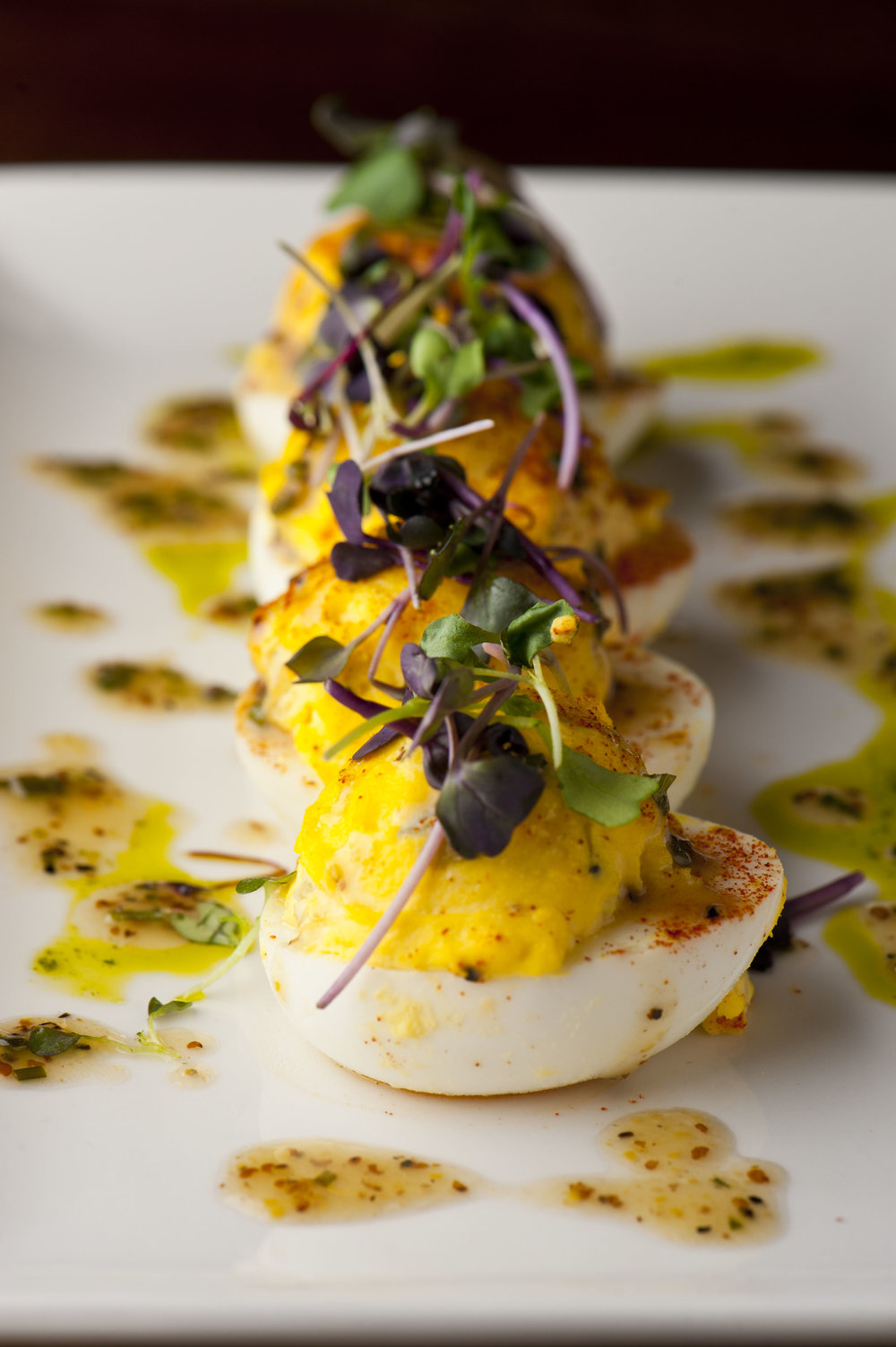 Del Fresco's Grille's truffle-chive deviled eggs are one of several signature brunch dishes available on Easter.