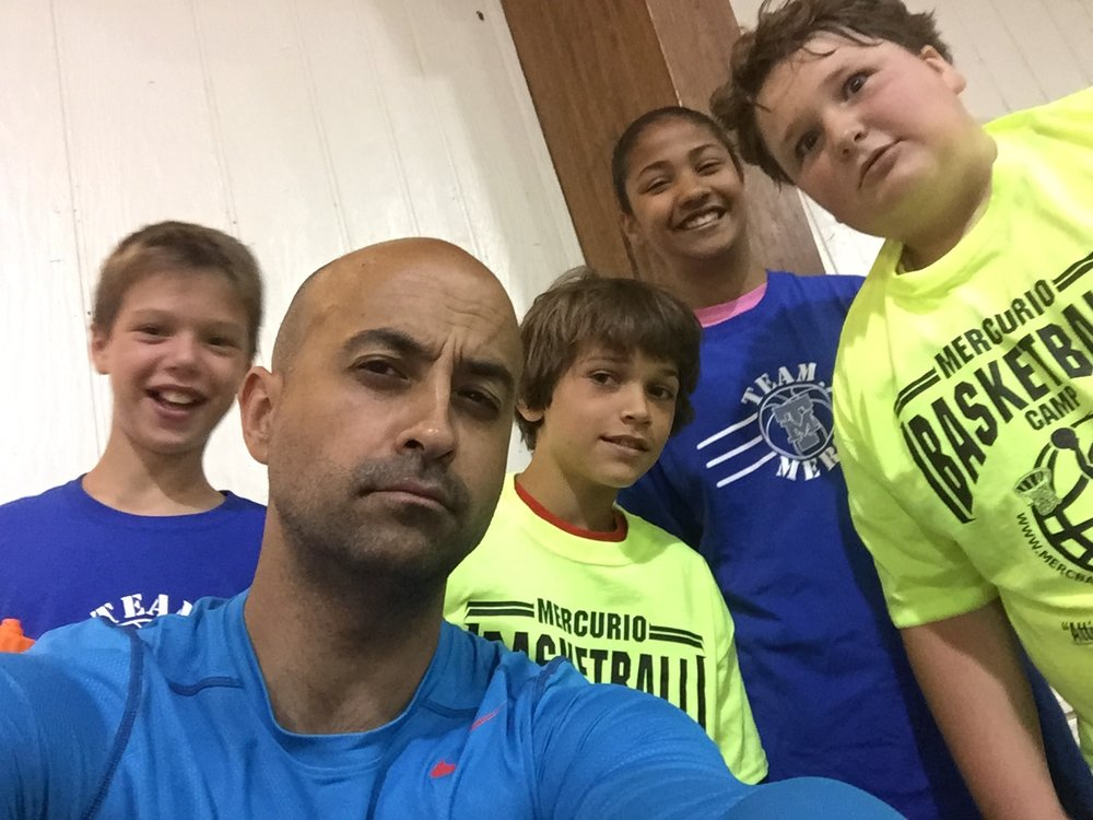 Photos courtesy of Jason Mercurio  Jason Mercurio, founder and coach at Mercurio Basketball Camp, said that running a successful camp is all about building relationships and engaging with the campers.