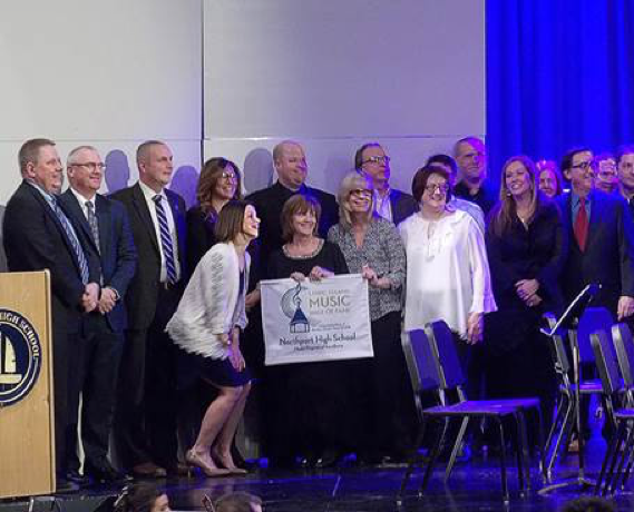 Photo/Northport-E. Npt. School District Northport-East Northport School District music department faculty members are pictured at the LIMHoF's music department recognition program.