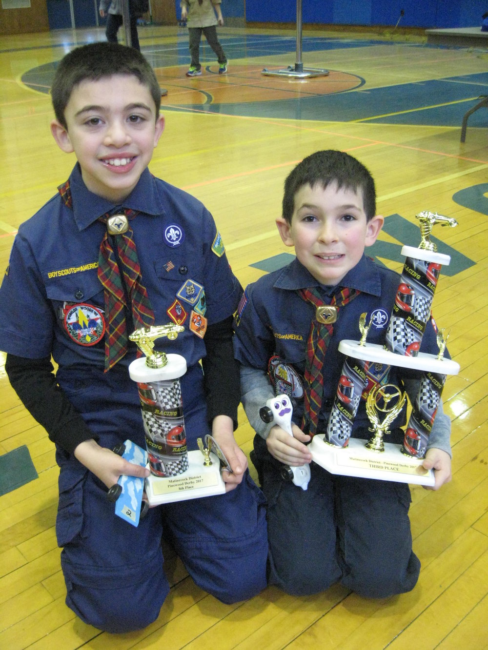 Third-place winner Mario M. Jr. and eigth-place winner Dominick S., both of East Northport's Pack 5,