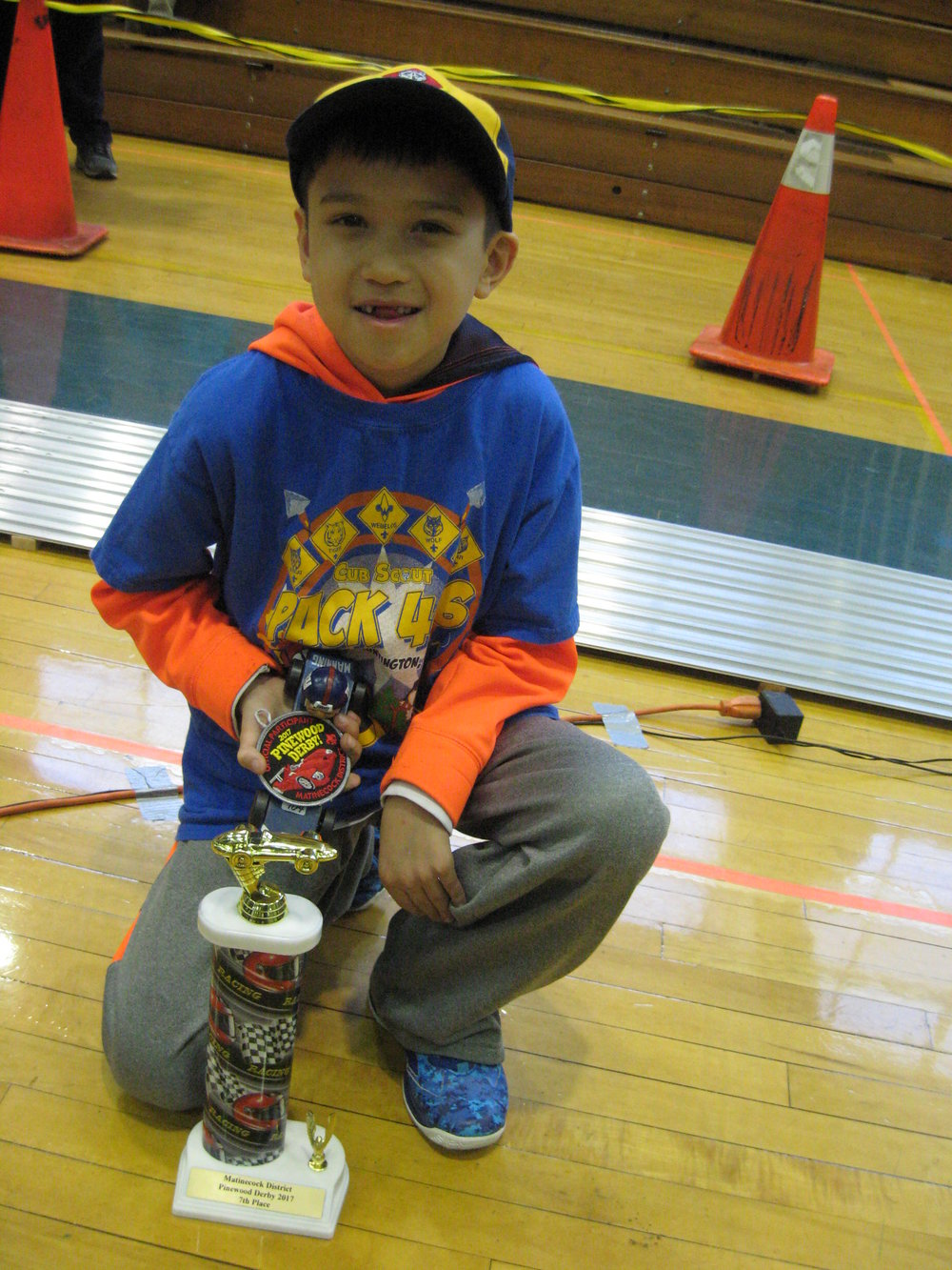 Seventh-place winner Christopher R., of South Huntington's Pack 406