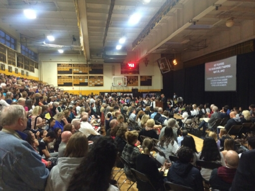 "Photo courtesy of Joe Morris  About 1,200 community members attended the Action Against Opioids event at St. Anthony's High School to form the Long Island Covenant to End the Opioid Epidemic to end the ""deadly scourge"" of addiction."