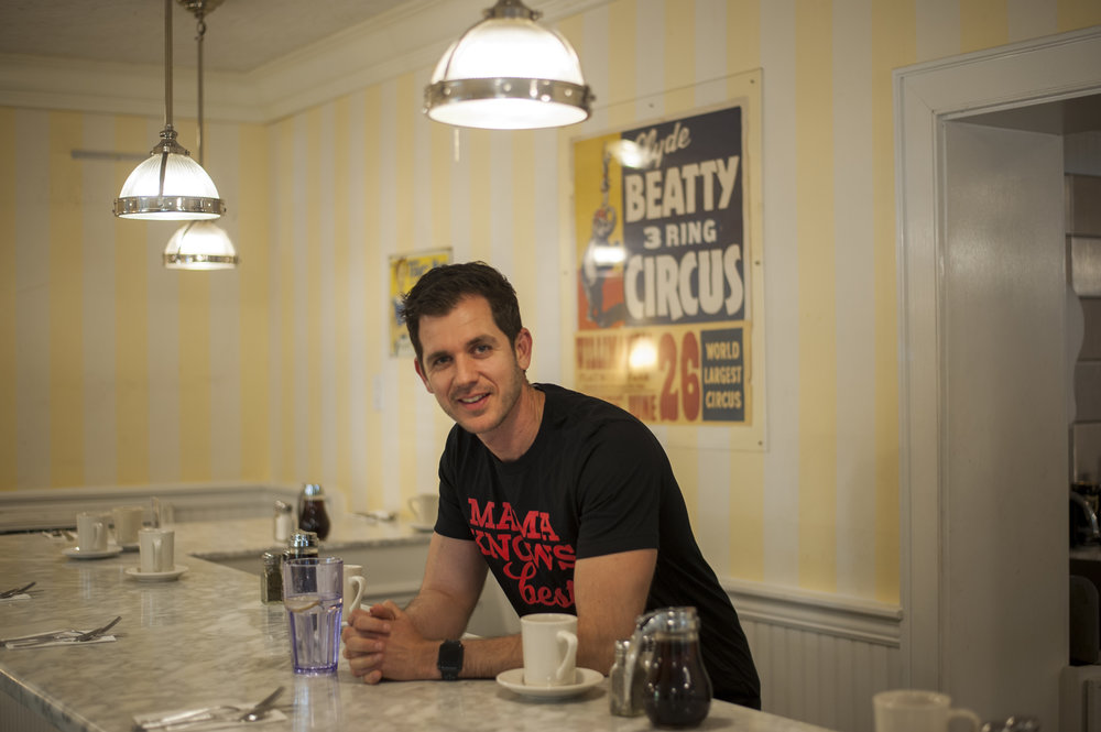 Long Islander News photos/David Weber  Sweet Mama's owner Marios Patatinis said he's transforming the establishment from a diner to premiere breakfast and brunch restaurant with a revitalized menu that's planned to debut next month