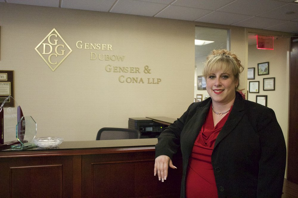 Long Islander News photo/Janee Law  Melissa Negrin-Wiener, Esq., a partner at Genser, Dubow, Genser & Cona, LLP, has been with the firm for 15 years and enjoys educating and giving back to the community.