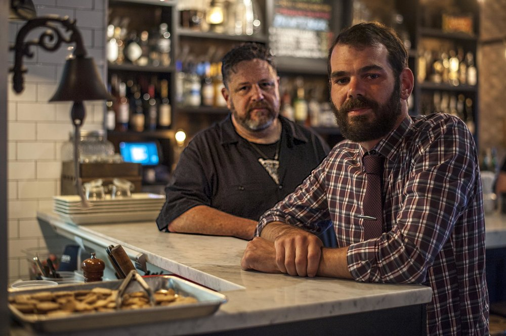 """Radio Radio manager Kevin Qualls, right, said the bistro offers """" comfort food, with comfortable service."""" He's pictured with chef and co-owner Michael Meehan."""