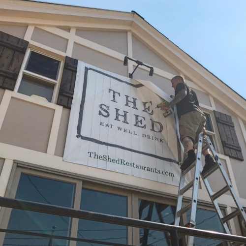 A new restaurant, The Shed, is gearing up to open on New Street in Huntington village.