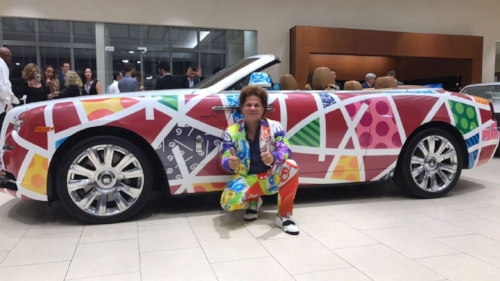 Photo courtesy of Romero Britto Known as a neo-pop artist, sculptor, painter, and serigrapher, Romero Britto will feature his artworks and sculptures at LaMantia Gallery on July 22 and July 23.