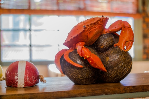 Long Islander News photos/Jano Tantongco  Feed & Grain's nautical-themed interior will make guests feel like they're sailing the seven seas, as they also traverse the restaurant's timeless seafood offerings.