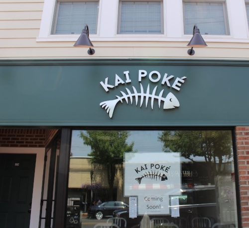 Kai Poke, Long Island's first solely-poke restaurant, is getting ready to open on Main Street in Huntington village