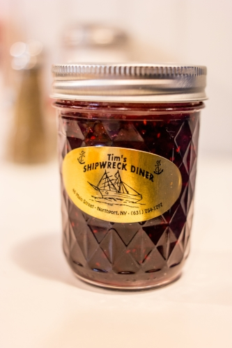 The homemade jam at the diner features a sweet mix of blueberries, strawberries and raspberries, sold to take home at $8 a jar.