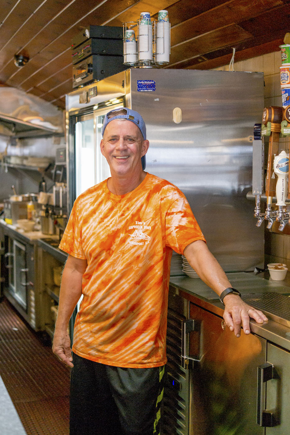 Tim Hess, owner of Tim's Shipwreck Diner, donned the captain's hat after his father, Otto, sold him the establishment in 1996.